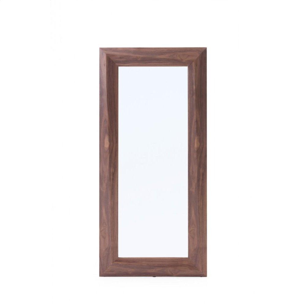 Modrest Calem Modern Walnut Floor Mirror