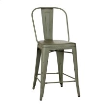 Bow Back Counter Chair - Green (RTA)