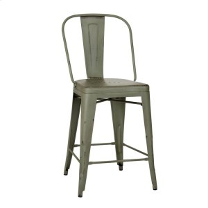 LIBERTY FURNITURE INDUSTRIESBow Back Counter Chair - Green (RTA)