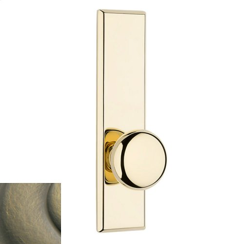 Satin Brass and Black Traditional K011 Knob Screen Door