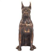 Bronze Guard Dog Sculpture, Small