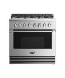 "36"" Gas Range: 6 Burners"