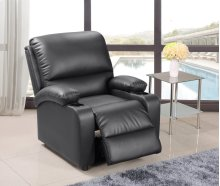 Black Pu Leather Recliner