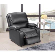 Black Pu Leather Recliner