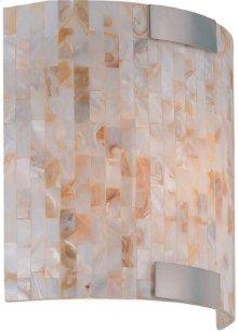 Wall Sconce, Ps/shell Mosaic Shade, E12 Type B 40w