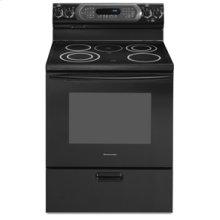 "30"" Width 4 Elements & Warming Element Ceramic Glass True Convection Oven CleanBake™ Architect® Series Electric Freestanding Range(Black)"