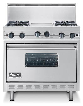 "36"" Open Burner Commercial Depth Range - VGRC"