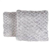 Faux Fur Pillow 2PC Feathered Chevron 705FC-451
