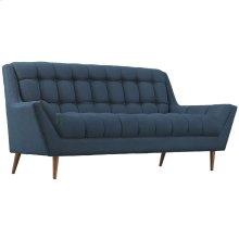 Response Upholstered Fabric Loveseat in Azure