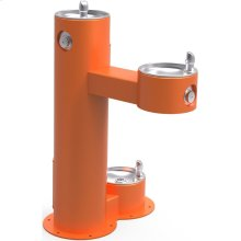 Elkay Outdoor Fountain Bi-Level Pedestal with Pet Station, Non-Filtered Non-Refrigerated, Freeze Resistant, Orange