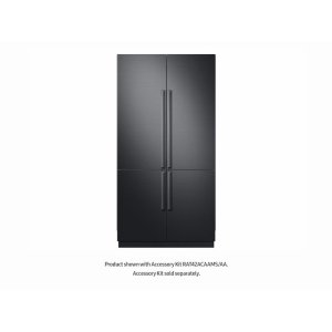 "SAMSUNG24 cu ft. Capacity 4-Door French Door Panel Ready 42"" Built-In Chef Collection Refrigerator"