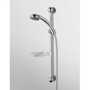 """STYLO complete slide rail adjustable bracket with handshower """"MIDA"""" 2 jets Z94720 shower hose 1500mm soap dish."""