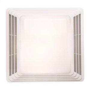 Fan/Light, White Plastic Grille, 50 CFM Product Image