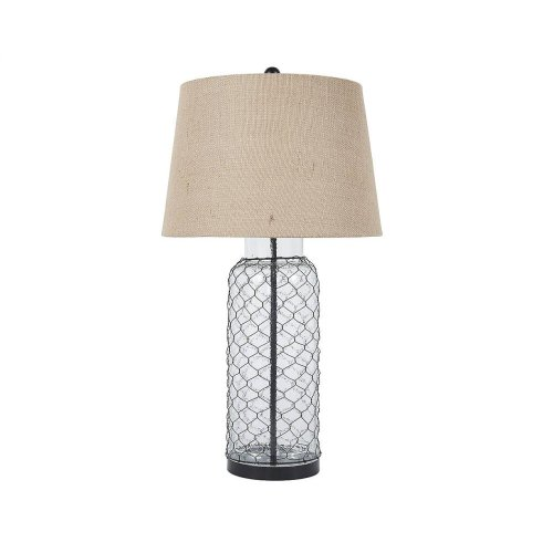 Timber and Tanning Glass Table Lamp (1/CN)