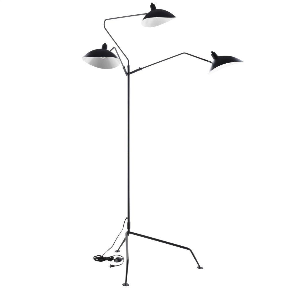 View Stainless Steel Floor Lamp in Black