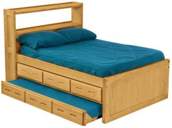 Captain's Bookcase Bed Set, Double