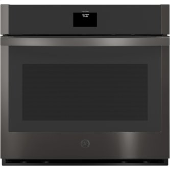 "GE 30"" Built-In Convection Single Wall Oven Black Stainless Steel - JTS5000BNTS"