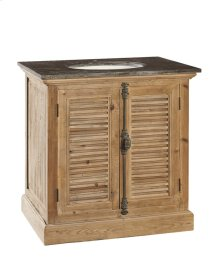 Louvered Door Vanity