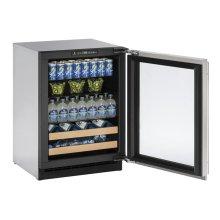 """24"""" Beverage Center Stainless Frame Right-Hand Hinge"""