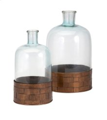 TY Cowboy Glass and Metal Jugs - Set of 2