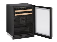 "1000 Series 24"" Beverage Center With Stainless Frame Finish and Field Reversible Door Swing"