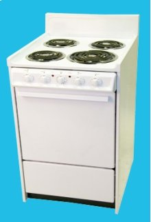 "24"" Electric Range Mono-Chromatic White"