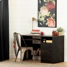 Desk with 2 Drawers - Rubbed Black Product Image