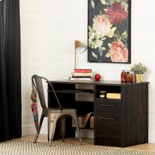 Desk with 2 Drawers - Rubbed Black