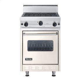 """Oyster Gray 24"""" Char-Grill Companion Range - VGIC (24"""" wide range with char-grill, single oven)"""