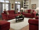 2800 - Dynasty Burgundy Sofa Product Image