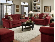 2800 - Dynasty Burgundy Sofa