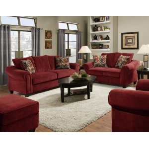 American Furniture Manufacturing 2800 - Dynasty Burgundy Sofa