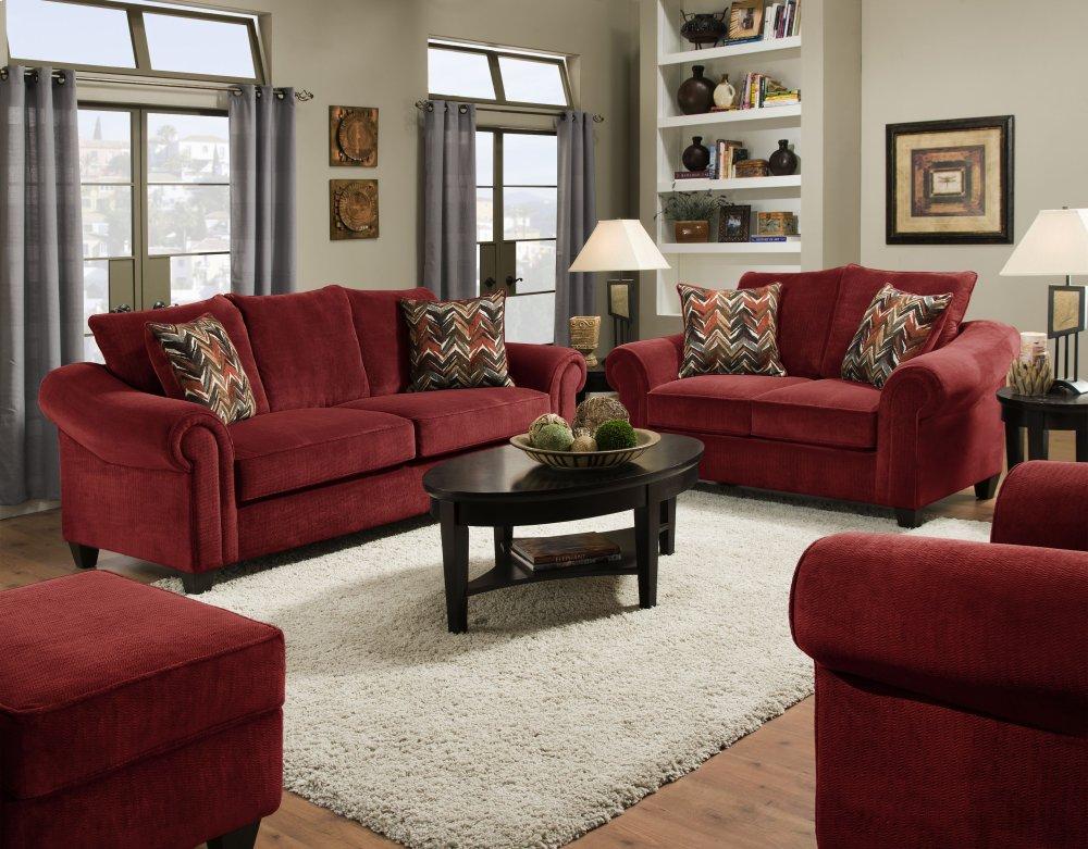 2800   Dynasty Burgundy Sofa