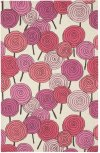 Lollipops Pink Multi Loop Hooked Rugs