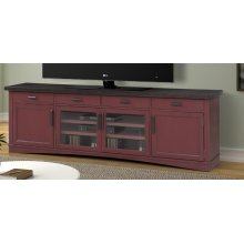 Americana Modern Cranberry 92 in. TV Console