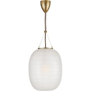 Visual Comfort AH5016NB-FG Alexa Hampton Hailey 1 Light 14 inch Natural Brass Pendant Ceiling Light, Medium Oblong