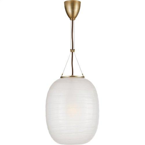 Visual Comfort AH5016NB-FG Alexa Hampton Hailey 1 Light 14 inch Natural Brass Pendant Ceiling Light, Medium Oblong