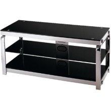 "3-tier TV Stand, Silv Chrome/black Gls, 43.25""LX16.75""WX20""H"