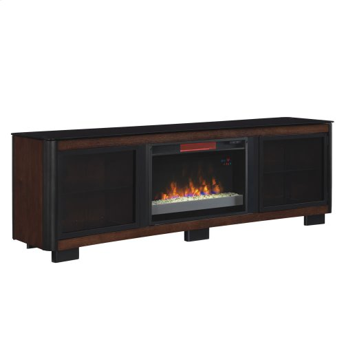 Manhattan TV Stand with Electric Fireplace