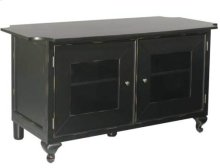 """Antique Black Audio Video Stand Distressed black finish - fits AV components and TVs up to 50"""""""