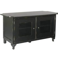 Antique Black Audio Video Stand Distressed black finish - fits AV components and TVs up to 50""