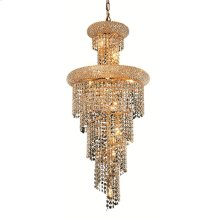1800 Spiral Collection Hanging Fixture Gold Finish