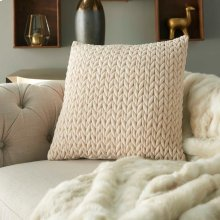 "Life Styles Et299 Ivory 18"" X 18"" Throw Pillow"