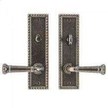 "Corbel Rectangular Privacy Set - 2 1/2"" x 9"" Silicon Bronze Brushed"