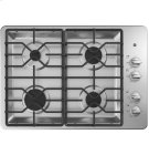 """30"""" Built-In Gas Deep Recessed Stainless Steel Cooktop Product Image"""