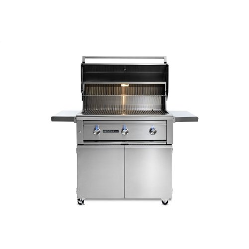 """36"""" Sedona by Lynx Freestanding Grill with 3 Stainless Steel Burners, NG"""