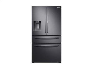22 cu. ft. 4-Door French Door, Counter Depth Refrigerator with Food Showcase in Black Stainless Steel Product Image