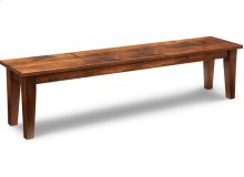 """Glengarry 72"""" Leg Bench with Wood Seat"""
