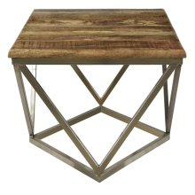 Bengal Manor Mango Wood and Iron Square End Table