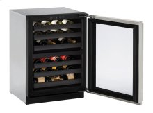 "Modular 3000 Series 24"" Wine Captain® Model With Stainless Frame (lock) Finish and Left-hand Hinged Door Swing"
